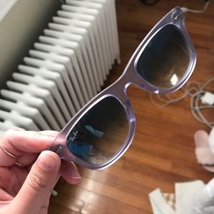 Purple Ray Ban Wayfarers